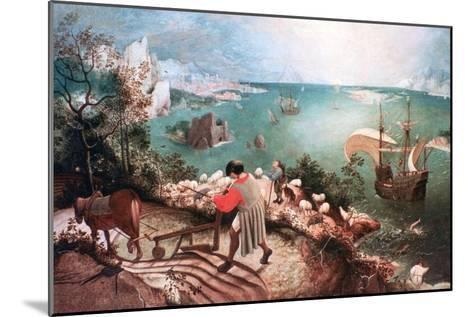 Landscape with the Fall of Icarus, C1555-Pieter Bruegel the Elder-Mounted Giclee Print