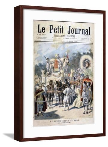 Fatted Ox Celebrations in Paris, 1896-Oswaldo Tofani-Framed Art Print