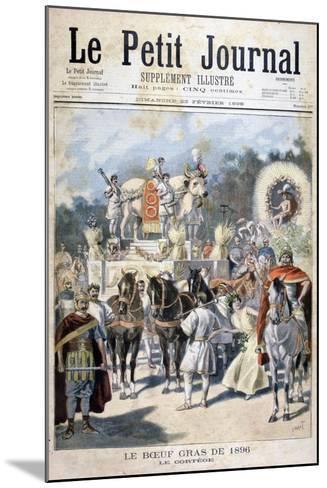 Fatted Ox Celebrations in Paris, 1896-Oswaldo Tofani-Mounted Giclee Print