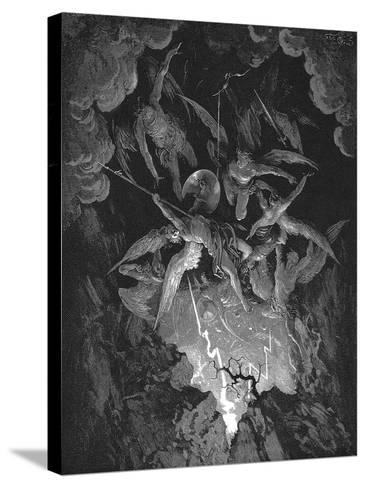 Illustration from John Milton's Paradise Lost, 1866-Gustave Dor?-Stretched Canvas Print