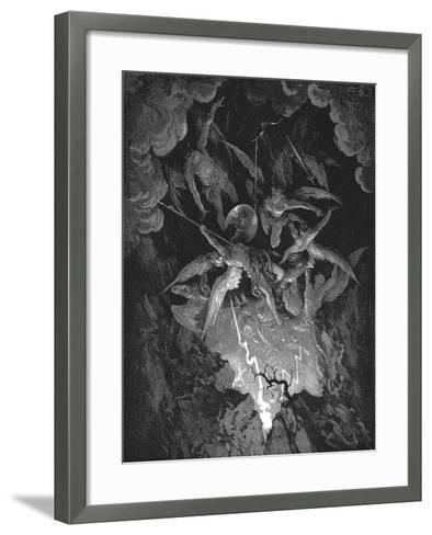 Illustration from John Milton's Paradise Lost, 1866-Gustave Dor?-Framed Art Print
