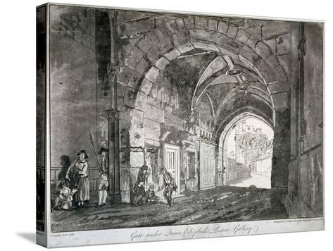 Gate under Queen Elizabeth's Picture Gallery, Windsor Castle, Berkshire, 1812-Paul Sandby-Stretched Canvas Print