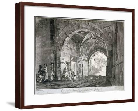 Gate under Queen Elizabeth's Picture Gallery, Windsor Castle, Berkshire, 1812-Paul Sandby-Framed Art Print