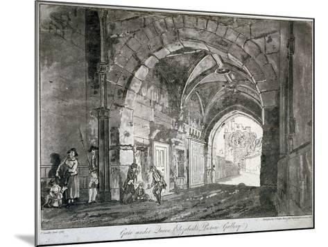 Gate under Queen Elizabeth's Picture Gallery, Windsor Castle, Berkshire, 1812-Paul Sandby-Mounted Giclee Print
