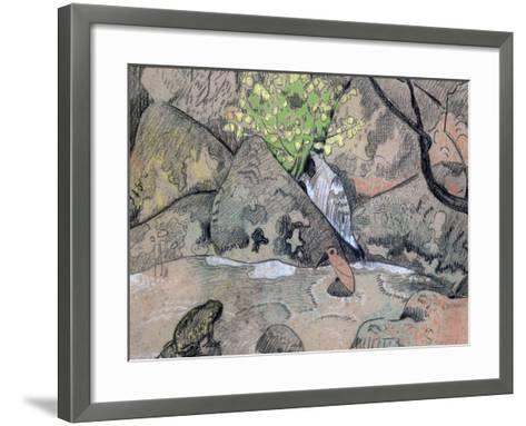 Landscape with a Bird and a Toad, C1883-1927-Paul Serusier-Framed Art Print