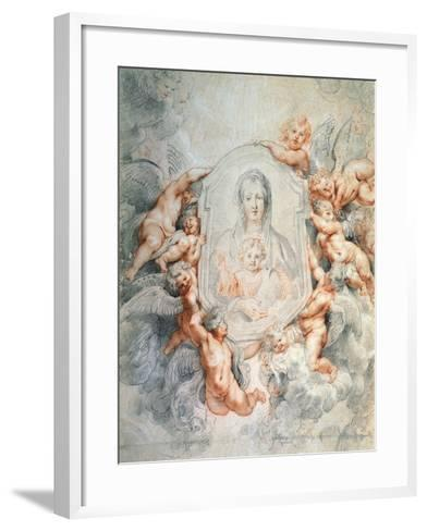 Madonna Adored by Angels (Madonna Della Vallicell), 1608-Peter Paul Rubens-Framed Art Print