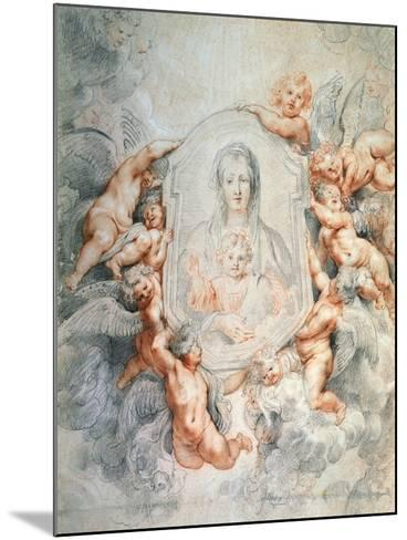 Madonna Adored by Angels (Madonna Della Vallicell), 1608-Peter Paul Rubens-Mounted Giclee Print