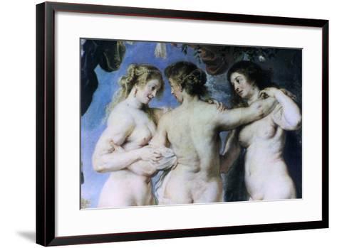 The Three Graces, (Detail), C1636-1638-Peter Paul Rubens-Framed Art Print