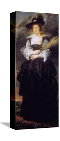 Portrait of Helena Fourment, C1630-32-Peter Paul Rubens-Stretched Canvas Print