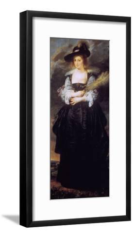Portrait of Helena Fourment, C1630-32-Peter Paul Rubens-Framed Art Print