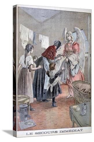 Immediate Help, 1899-Oswaldo Tofani-Stretched Canvas Print