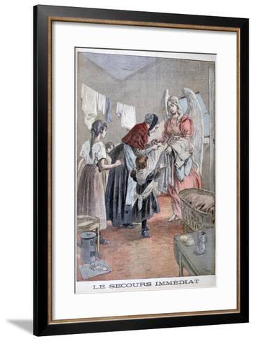 Immediate Help, 1899-Oswaldo Tofani-Framed Art Print