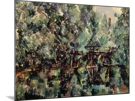 A Bridge over a Pond, C1898-Paul C?zanne-Mounted Giclee Print