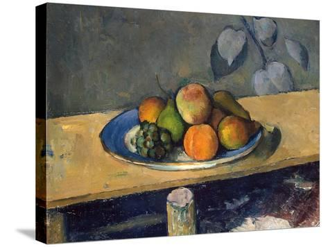 Apples, Pears and Grapes, 1879-1880-Paul C?zanne-Stretched Canvas Print