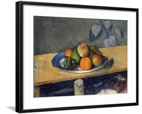 Apples, Pears and Grapes, 1879-1880-Paul C?zanne-Framed Art Print
