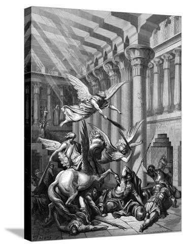 Heliodorus Attempting to Take Treasure from the Temple at Jerusalem, 1865-1866-Gustave Dor?-Stretched Canvas Print