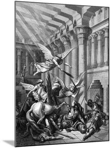 Heliodorus Attempting to Take Treasure from the Temple at Jerusalem, 1865-1866-Gustave Dor?-Mounted Giclee Print