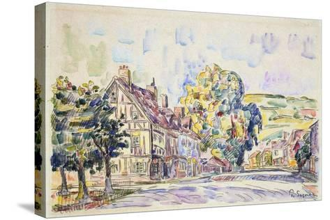 Street with a Frame House in Normandy, C1925-Paul Signac-Stretched Canvas Print