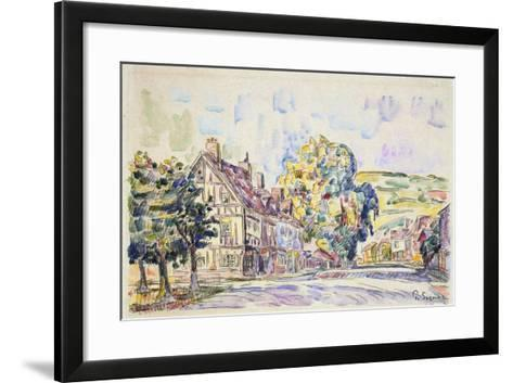 Street with a Frame House in Normandy, C1925-Paul Signac-Framed Art Print