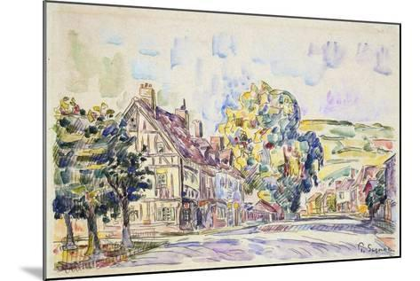 Street with a Frame House in Normandy, C1925-Paul Signac-Mounted Giclee Print