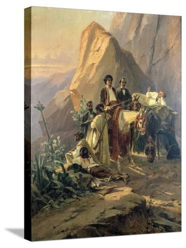Memories of the Trip from Paris to Cadiz - Alexandre Dumas (Per) in Spain, 1830-Pierre Francois Eugene Giraud-Stretched Canvas Print