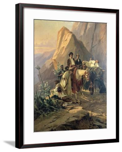 Memories of the Trip from Paris to Cadiz - Alexandre Dumas (Per) in Spain, 1830-Pierre Francois Eugene Giraud-Framed Art Print