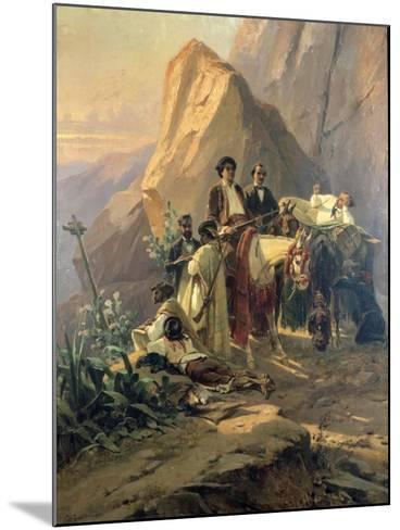 Memories of the Trip from Paris to Cadiz - Alexandre Dumas (Per) in Spain, 1830-Pierre Francois Eugene Giraud-Mounted Giclee Print