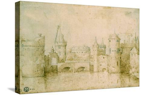 View of the Ancient Fortifications of Amsterdam, Netherlands, 1562-Pieter Bruegel the Elder-Stretched Canvas Print
