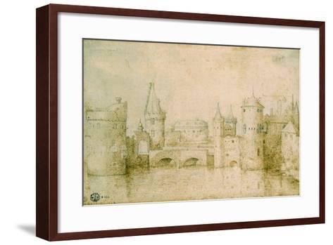 View of the Ancient Fortifications of Amsterdam, Netherlands, 1562-Pieter Bruegel the Elder-Framed Art Print