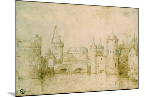 View of the Ancient Fortifications of Amsterdam, Netherlands, 1562-Pieter Bruegel the Elder-Mounted Giclee Print