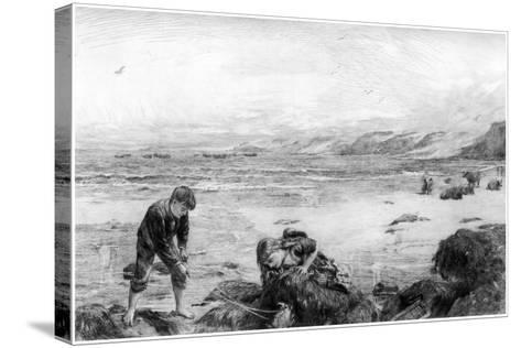 The Nearest Way to School, C1880-1882-Otto Theodor Leyde-Stretched Canvas Print