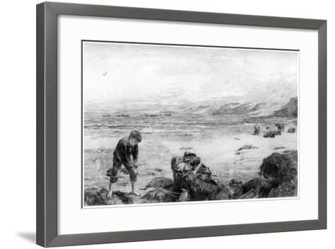 The Nearest Way to School, C1880-1882-Otto Theodor Leyde-Framed Art Print