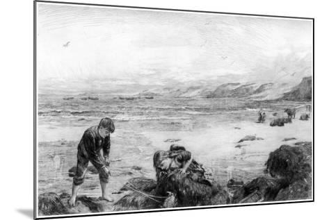 The Nearest Way to School, C1880-1882-Otto Theodor Leyde-Mounted Giclee Print