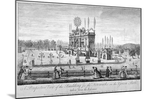 Green Park, Westminster, London, 1749-P Angier-Mounted Giclee Print