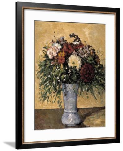 Flowers in a Blue Vase, 1873-1875-Paul C?zanne-Framed Art Print