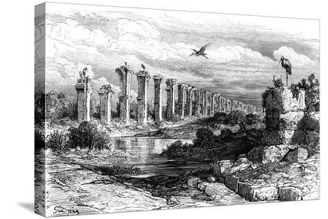 Roman Aqueduct, Merida, Spain, 19th Century-Gustave Dor?-Stretched Canvas Print