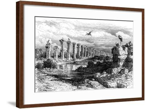 Roman Aqueduct, Merida, Spain, 19th Century-Gustave Dor?-Framed Art Print