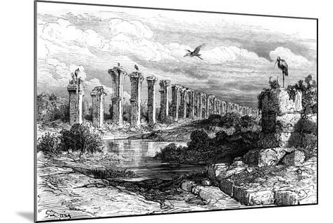 Roman Aqueduct, Merida, Spain, 19th Century-Gustave Dor?-Mounted Giclee Print