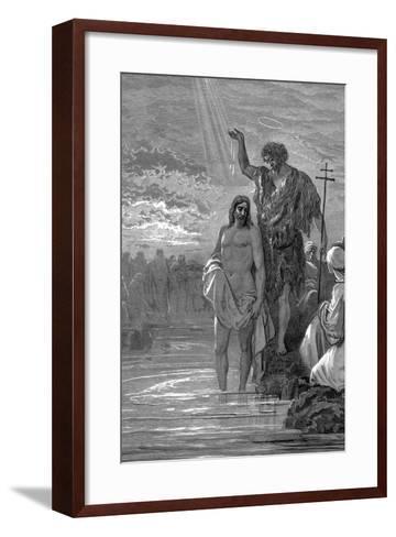 The Baptism of Christ, 1st Century-Gustave Dor?-Framed Art Print