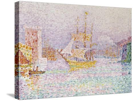 The Harbour at Marseilles, 1907-Paul Signac-Stretched Canvas Print