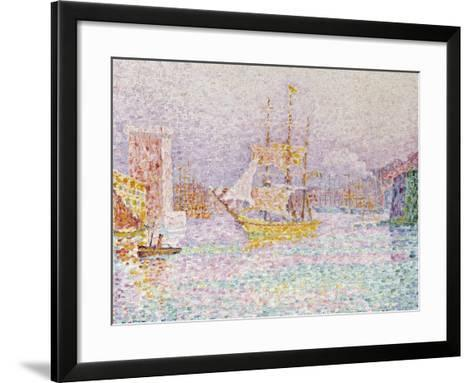 The Harbour at Marseilles, 1907-Paul Signac-Framed Art Print
