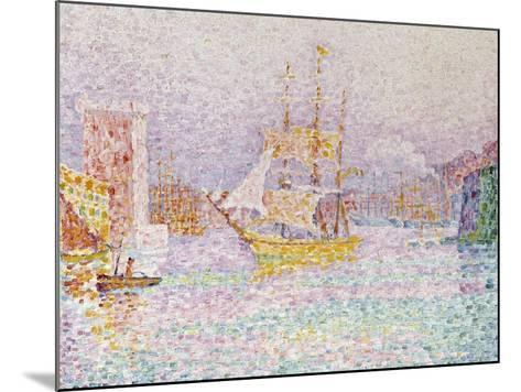 The Harbour at Marseilles, 1907-Paul Signac-Mounted Giclee Print