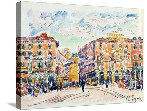 City Square, C1925-Paul Signac-Stretched Canvas Print