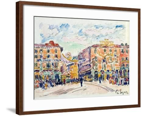 City Square, C1925-Paul Signac-Framed Art Print