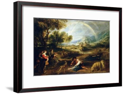 Landscape with a Rainbow, Early 1630S-Peter Paul Rubens-Framed Art Print