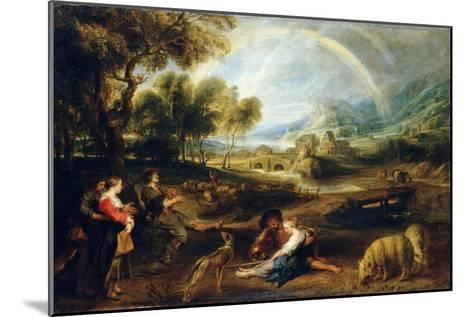 Landscape with a Rainbow, Early 1630S-Peter Paul Rubens-Mounted Giclee Print