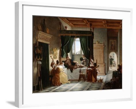 The Convalescence of Bayard, C1796-1842-Pierre Henri Revoil-Framed Art Print