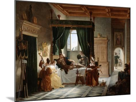 The Convalescence of Bayard, C1796-1842-Pierre Henri Revoil-Mounted Giclee Print