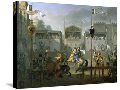 The Tournament, 1812-Pierre Henri Revoil-Stretched Canvas Print