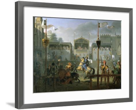 The Tournament, 1812-Pierre Henri Revoil-Framed Art Print